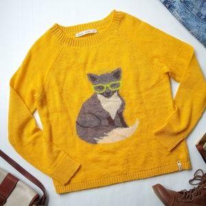 Woolrich • yellow fox print Crewneck sweater